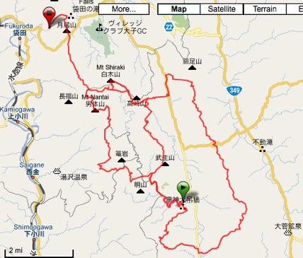 OSJ Okukuji Trail 50K 2010 by koichi2000 at Garmin Connect - Details