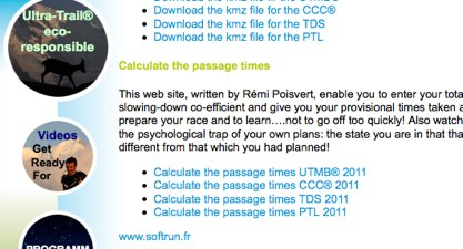 Welcome to the international Mont Blanc Ultra trail web site Downloading of useful documents 1