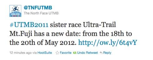 Twitter TNFUTMB UTMB2011 sister race Ultr