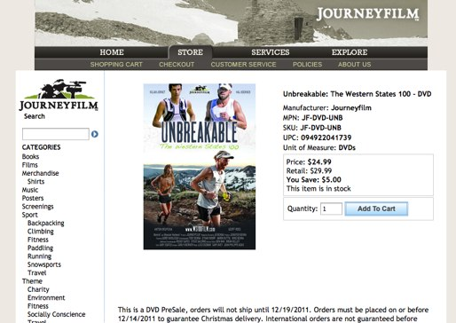 Unbreakable The Western States 100 DVD