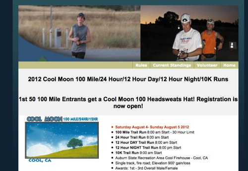 Cool Moon 100 Mile 24 Hour 12 Hour Day 12 Hour Night 10K Runs