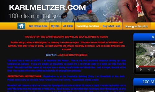 Speedgoat 50k 2012 Official Site of Karl Meltzer | World Class Endurance Runner | Coaching Services