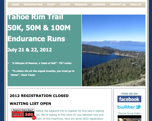 Tahoe Rim Trail Endurance Runs