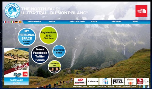 Welcome to the international Mont Blanc Ultra trail web site