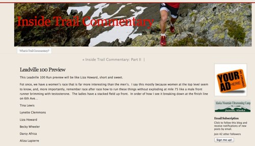 Leadville 100 Preview | Inside Trail Commentary