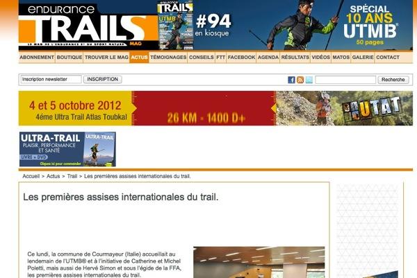 Trail ENDURANCE MAG Le magazine du TRAIL et du SPORT NATURE Les premières assises internationales du trail 1